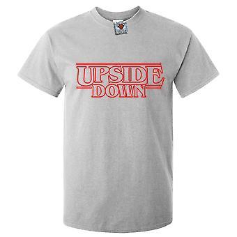 Mannen ' s ondersteboven t-shirt-geïnspireerd ontwerp