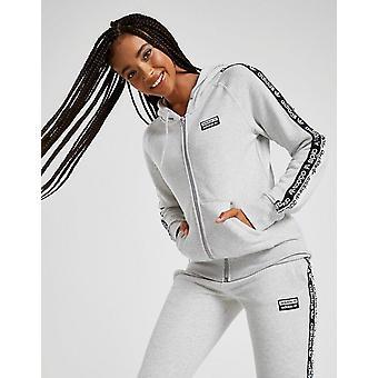 New adidas Originals Women's Tape Fleece Full Zip Hoodie Grey