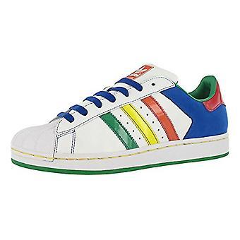 Adidas Superstar II CB menns sko hvit/multi-farge størrelse 8,5