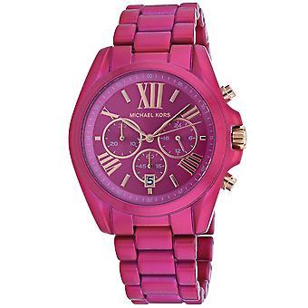 Michael Kors Women's Bradshaw Pink dial watch - MK6719