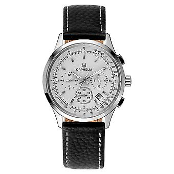 ORPHELIA Men Dual Time Watch Black Leather OR81700