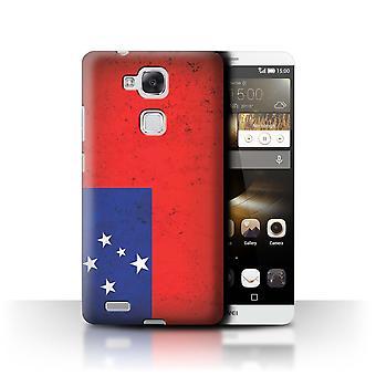 STUFF4 Case/Cover for Huawei Ascend Mate7/Samoa/Samoan/Oceania Flag