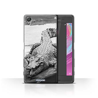 STUFF4 Case/Cover for Sony Xperia X Performance/Crocodile/Mono Zoo Animals