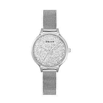 Obaku Stjerner Steel Women's Mesh Strap Wristwatch V238LXCWMC