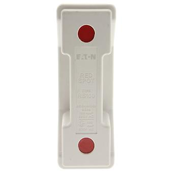 Bussmann RS100PWH 100A Back Stud White Red Spot Fuse Holder