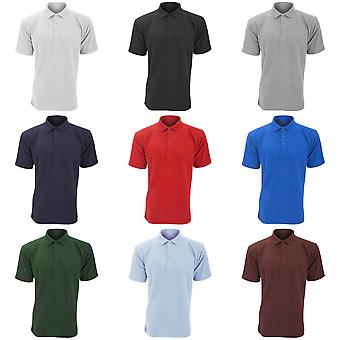 UCC 50/50 Mens Plain Piqué Short Sleeve Polo Shirt