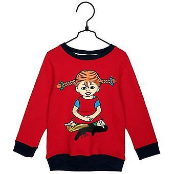 Pippi Longstocking Famn-college sweater red