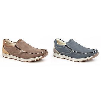 Роумеров Мужские кожаные Twin ластовицей группа Повседневная обувь