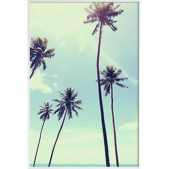 JUNIQE Print - New Life by @alyonagamm - Palm Trees Poster in Blue & Turquoise
