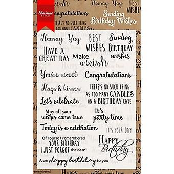Marianne Design Stamp Birthday wishes (INT) CS0996