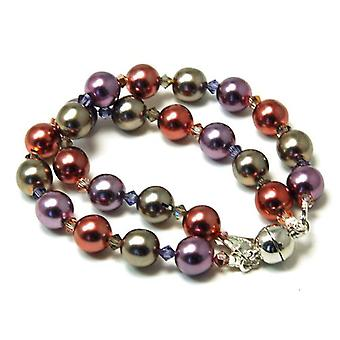 Kleshna Knot Lupin Simulated Pearl & Rhinestone Bracelet, Magnetic Closure
