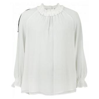 Silvian Heach pailletten mouw blouse