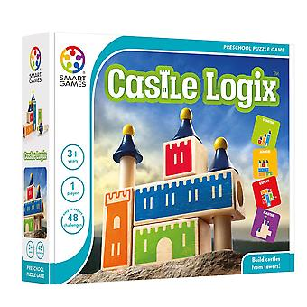 SmartGames Castle Logix Preschool Wooden Puzzle Game 48 Facile à expert