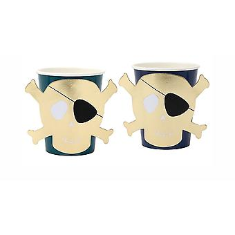 Meri Meri Pirates Bounty Paper Party Cups x 8