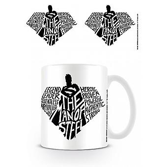 Superman Man Of Steel Typography Mug