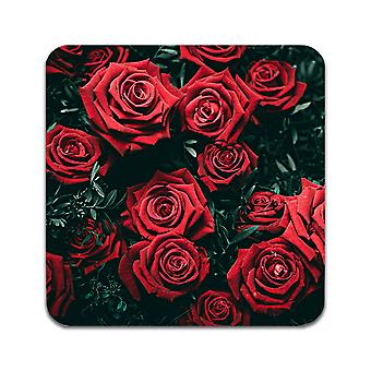 2 ST Red Roses Coasters