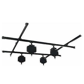 BRESSER CR-1 système de rail de plafond 3x3m avec 4 pantographes/ciseaux