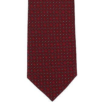 Paret av London geometriske sirkel Polyester slips - rød