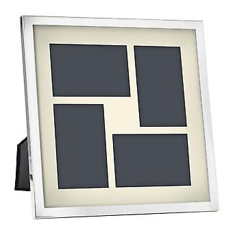 Orton West Large Four Photo Frame - Silver