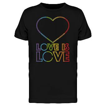 LGBT Love Is Love Heart Retro Style Men's T-shirt