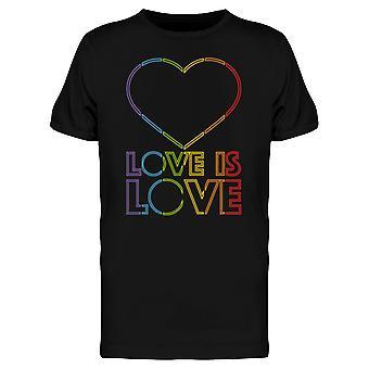 LGBT Love Is Love Heart Retro Style Men es T-Shirt