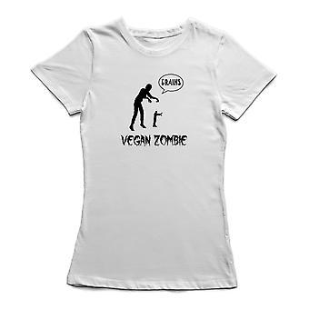 Camiseta de Vegan Zombie Graohic diseño mujeres