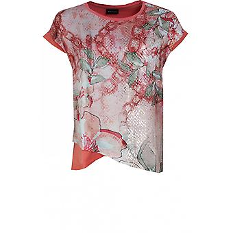 Taifun Coral Floral Design Top