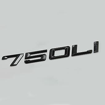 Glosss Black 750Li Car Model Rear Boot Number Letter Sticker Decal Badge Emblem For 7 Series