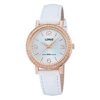 Reloj de pulsera Lorus RG202JX-9 correa de cuero blanco