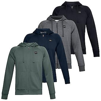 Under Armour Mens 2020 Rival Fleece Pehmeä Harjattu Raglan Full Zip Huppari
