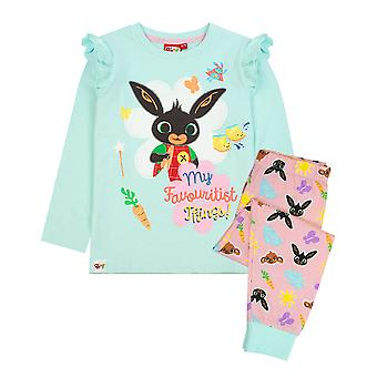 "Bing Bunny & Sula Piżamy ""It's A Bing Thing"" Cbeebies Long Sleeve Girls PJs"