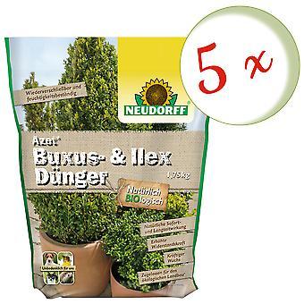 Sparset: 5 x NEWDORFF-® Buxus& Ilex Lannoite, 1,75 kg