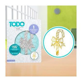 TODO Hot Foil Press Candy Cane