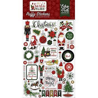 صدى بارك هنا يأتي ملصقات سانتا كلوز منتفخ