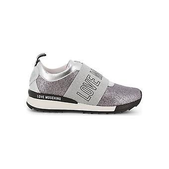 Love Moschino - Shoes - Sneakers - JA15742G08JN-L020 - Women - Silver - EU 40