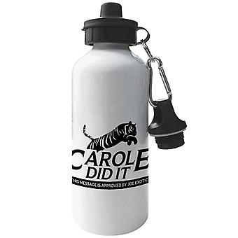 Tiger King Carole Did It Rescue Logo Joe Exotic Aluminium Sports Water Bottle
