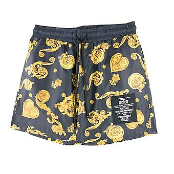 Versace Jeans Couture Print Jewels Swim Shorts Noir