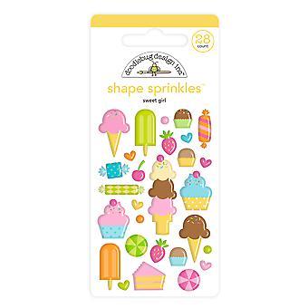 Doodlebug Design Sweet Girl Muoto Sprinkles (28kpl) (6623)