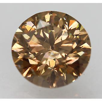 Cert 1,43 karaatin Orangy Ruskea VS2 pyöreä loistava luonnollinen löysä timantti 7,15 mm