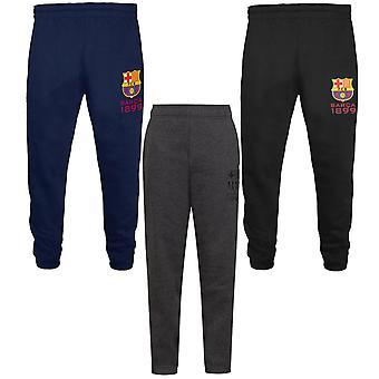 FC Barcelona officiella fotboll Gåva Boys Slim Fit Fleece Joggare Jog Byxor