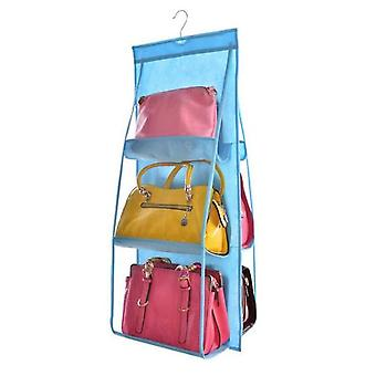 6 Pocket Hanging Handbag Organizer - Transparent Storage Bag For Wardrobe