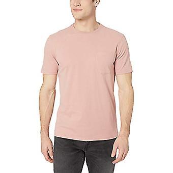 Goodthreads Men's Short-Sleeve Sueded Jersey Crewneck Pocket T-Shirt, Pink, L...