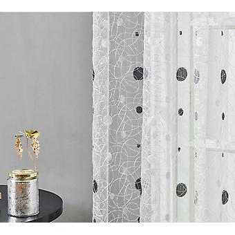 Dots Embroidered Curtain For Kitchen Living Room Bedroom For Windows