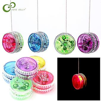 Led Flashing Yoyo Classic Kids Toys Magic Yoyo Spin Plastic Bearing With Spinning String Toys For Children