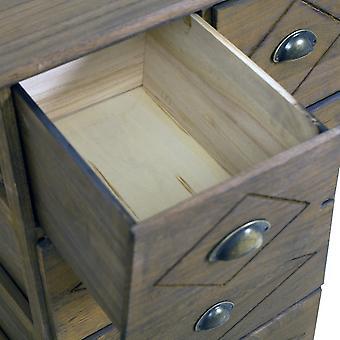 Rebecca Möbel Mehrzweck Kommode Vintage braun Holz 5 Schubladen 100x60x40
