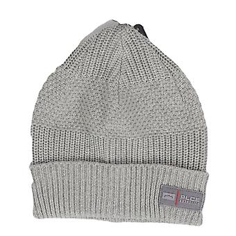 883 Police Threated Ribbed Cotton Grey Beanie Hat