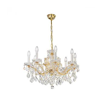 Maria Louise Crystal Candlestick 24k Gold 8 Bollen