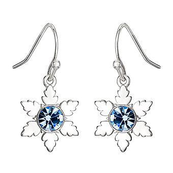 Disney Frozen Snowflake Silver Plated Drop Earrings