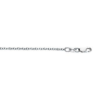 18k White Gold 1.5mm Sparkle Cut Round Cable Chain With Lobster Clasp Necklace Jewelry Gifts for Women - Length: 16 to 1