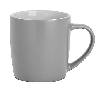Argon Tableware Matt Tea and Coffee Mug - Modern Style Porcelain Cappuccino Latte Cup - Grey - 350ml